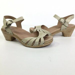 Dansko Marlow Oyster Washed Leather Sandals